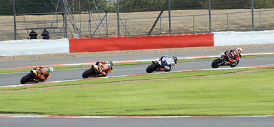 Shaky Byrne, John Hopkins, John Laverty & Tommy Hill head into Chapel Curve. BSB Race 2.