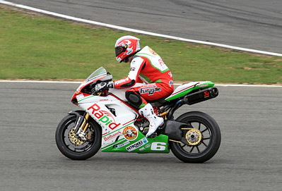 Michael Rutter, Rapid Solicitors Bathams Ducati. BSB Superbikes. Wind down lap Race 1.