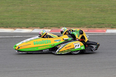 Tim Reeves & Gregory Cluze, LCR Honda. Eastern Airways British F1 Sidecar Championship leaders.