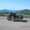 Thursday I rode north to construction at the LinnCove Viaduct, turned around and rode south to lunch at Mt Mitchell.