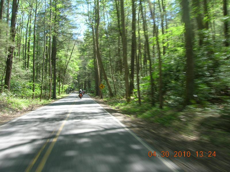 Somewhere in north NC or maybe TN.  Ira, George and I were chasing Bernie.