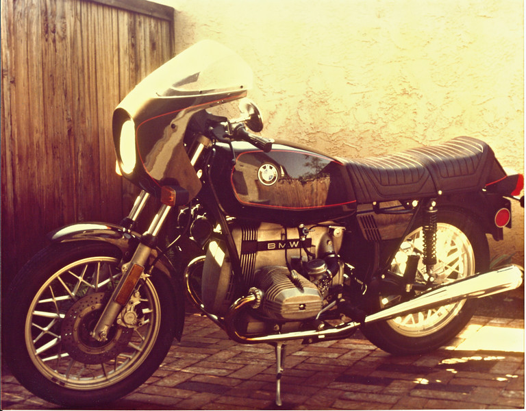 1979 R65/S Special<br /> Manxman S-Type fairing. S-bars, and oil temp gauge.<br /> Rode it for 6,000 miles and sold it in search of the RS.