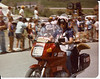 1982 Coors Classic International Bicycle Race, me as motorcycle marshal.<br /> The 1982 R100RT had the worst seat BMW had produced since 1973. White is never a good choice for color anywhere near a motorcycle.