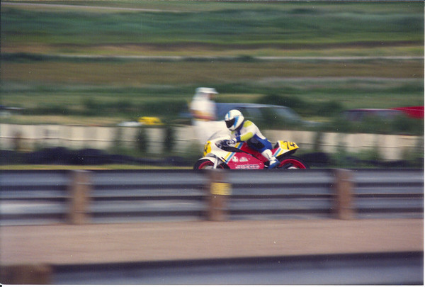 The original Doctor Rossi.<br /> A real doctor racing his Woods/Rotax 500 at Mountain View, Colorado.