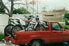 Ready to hit the desert with Paul and a couple of CW test bikes. Honda XR250R and Kawasaki KLX250.
