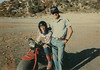 Dad and I with my very first off-road cycle, a Honda ATC 110, at the gravel pit in Wrightwood, CA.