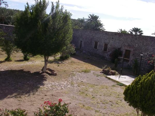 Courtyard at the Mission San Ignacio