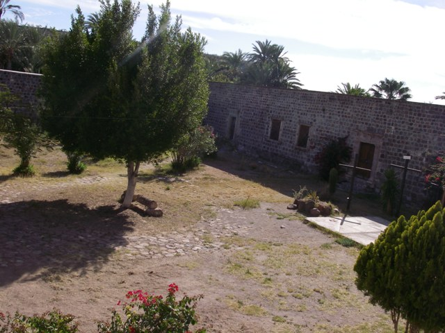 Courtyard at the Mission San Ignacio