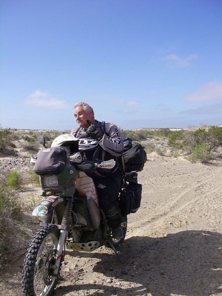 The sand was soft, and it was a struggle for LVRs loaded down KLR wéo knobbies.