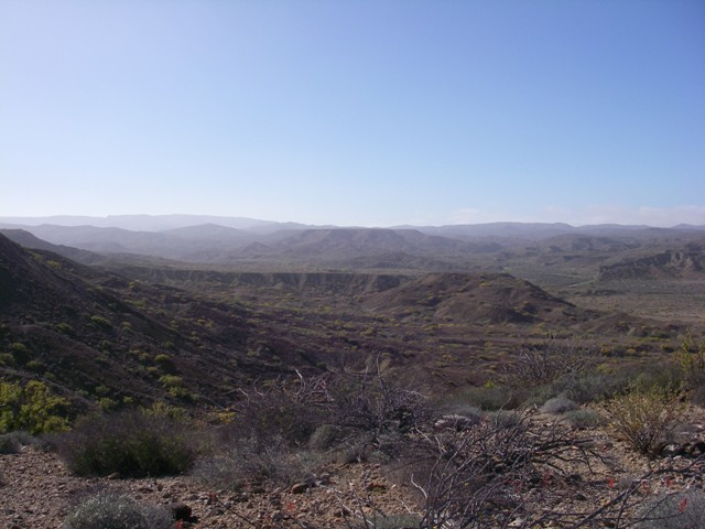 We`ve climbed out of the arroyo from playa malarrimo and are back up on the plateau