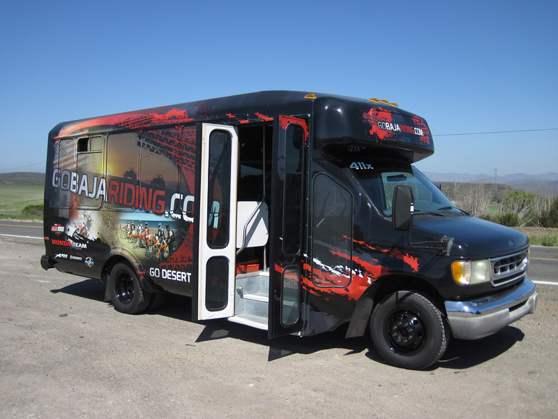 The GoBajaRiding Bus picked us up in SanDiego for the trip to Ensenada.