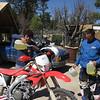 A gas stop in Mexico.   Ricardo supervises.