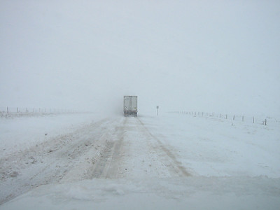 I drove through this to get to Baja. This is on a 2 lane highway somewhere southwest of Tucumcari, NM. I-40 was closed, so I found my way to Socorro in a blizzard.