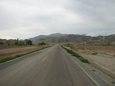 Riding asphalt to San Felipe.