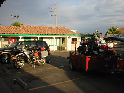 Arriving in Calexico.