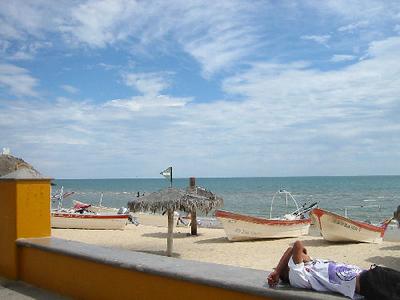 Lunch on the beach in San Felipe.