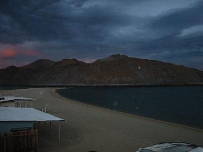 The sun setting at Gonzaga Bay. Baja really starts here.