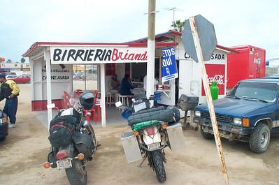 Lunch at Birrieria Brianda in Guerrero Negro