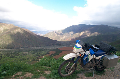 KLR 650 near Ensenada