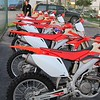Shiny CRF 450s ready to roll.
