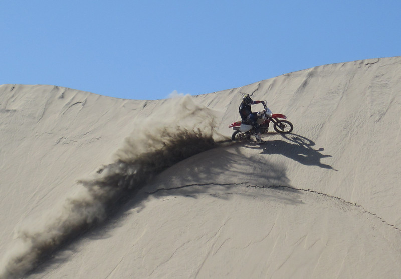 Cutting some dunes.