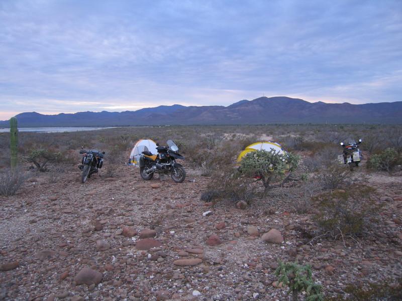 Trash campsite 1 - the trash dumps of Santa Rosalia not far from us.