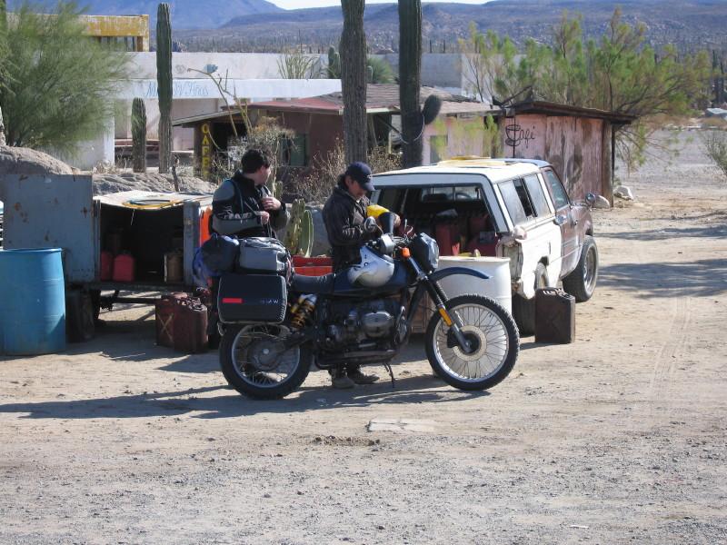 Fuel stop in Catavina.