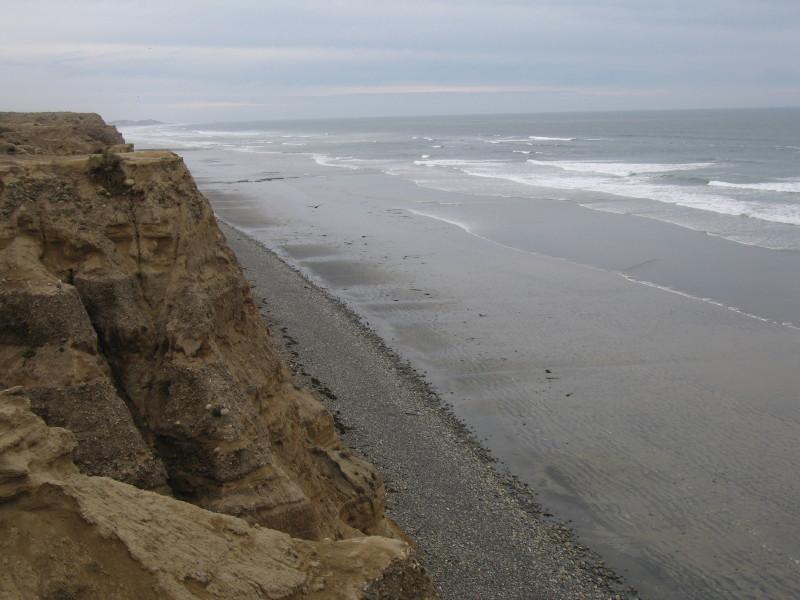 The coast near San Quitin.