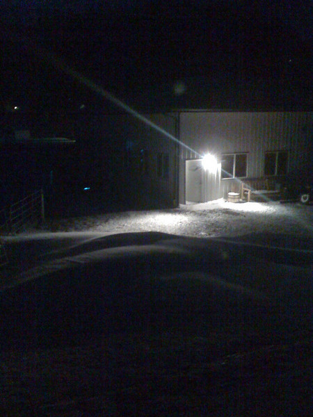 Snowdrifts in front of the shop - great start