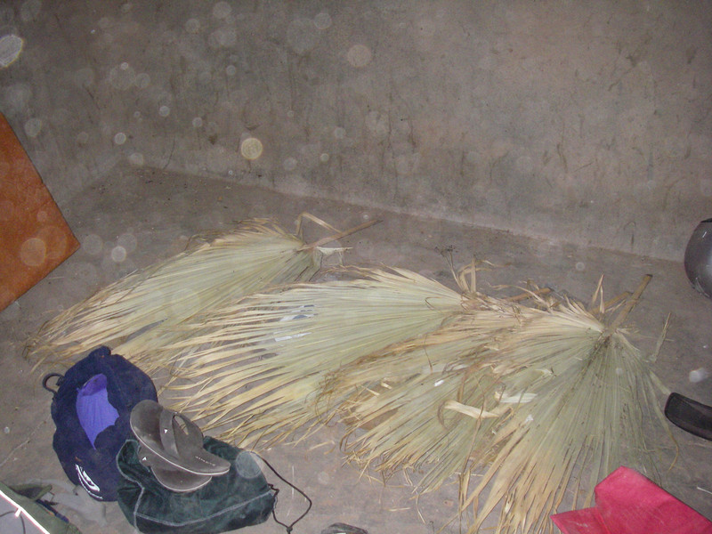 It was dark as we arrived at Rancho Zauzal, so we hastily prepared our beds for the night in one of the deserted buildings.