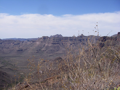 Northern rim of San Pedro canyon