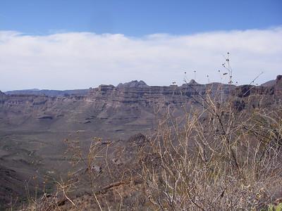Northern rim of San Pedro canyon