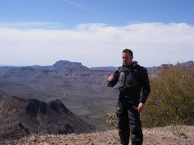 Estevan at the summit.  We're around 4000 feet here.