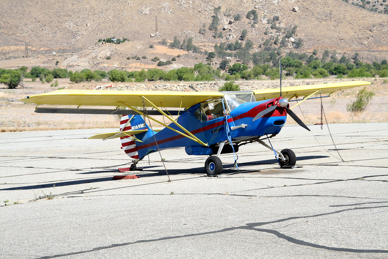 On the tarmac at Kern Valley Airport