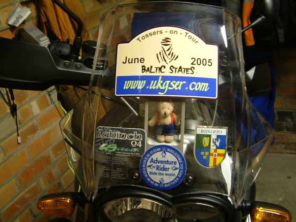 Just received the bike stickers, tour taking place during early June 05.  More photo's as we take the tour. Hopefully a few hours of video will be put onto a dvd.