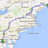 We left Bar Harbor on the morning of Friday 9/19. Our return trip was some 925 miles, planned over three days, with very little interstate. Friday was devoted to traversing Maine and then the climb up Mt. Washington, in New Hamster.