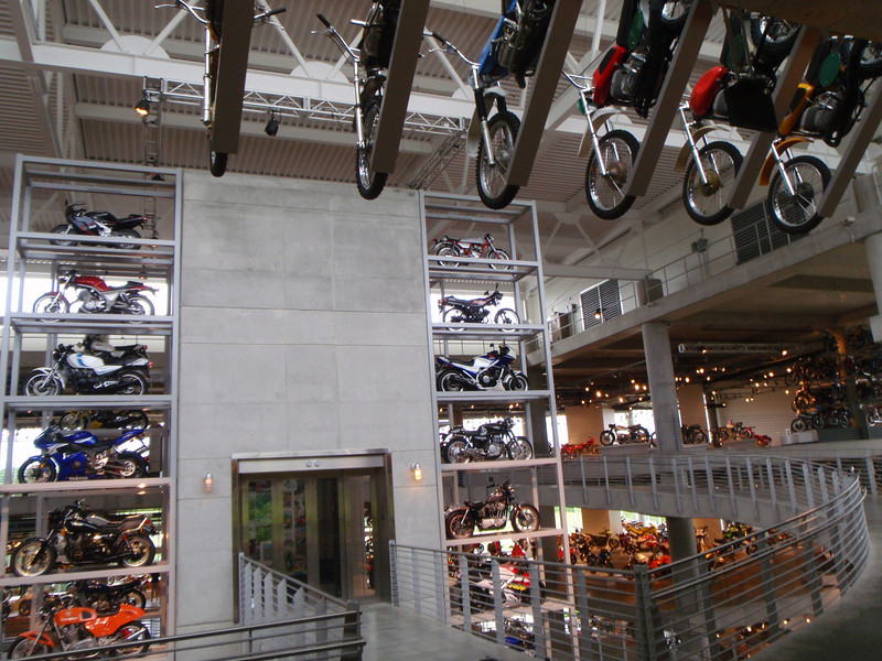 """I asked the staff how they got the motorcycles up 4 stories into those racks. """"Scissor lift"""" was the answer."""