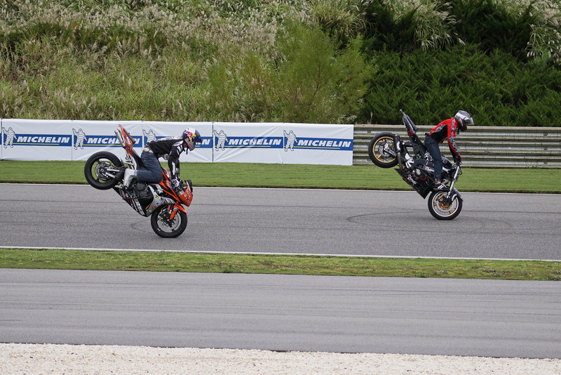 Motorcycle Stunt Show at Barber Motorsports Vintage Festival 2009