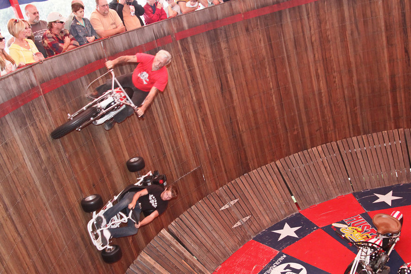"""The American Motor Drome Wall of Death at Barber Motorsports Vintage Festival 2009 <a href=""""http://www.americanwallofdeath.com/"""">http://www.americanwallofdeath.com/</a>"""