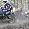 The AHRMA post-vintage cross country race. Tight racing on woods singletrack.