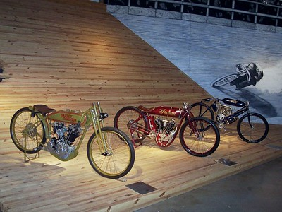 Some Harley board track racers.