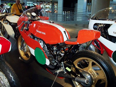 Poor old Cagiva was crammed in between a bunch of other racers probably because the museum staff didn't think anyone woud know what it was anyway.