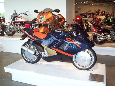 A nifty Gilera that looks like something from a sci-fi movie.