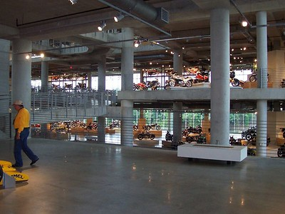 Five spacious floors of exotic bikes and cars!