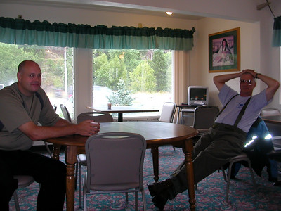 "Aug 28, 2007 The banquet... ""This isn't WeSTOC, is it?"" Dave Berzins and Ken"