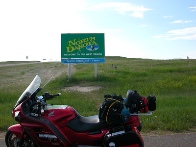North Dakota 6/21/07 5:35pm There was no Welcome to North Dakota sign west of Bowman where I entered the state, so this sign at the exit point on the road south will have to do