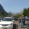 Parking lot at Many Glaciers Lodge, Glacier National Park