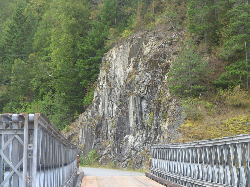 looking North over the Saloompt Road bridge over the Bella Coola River