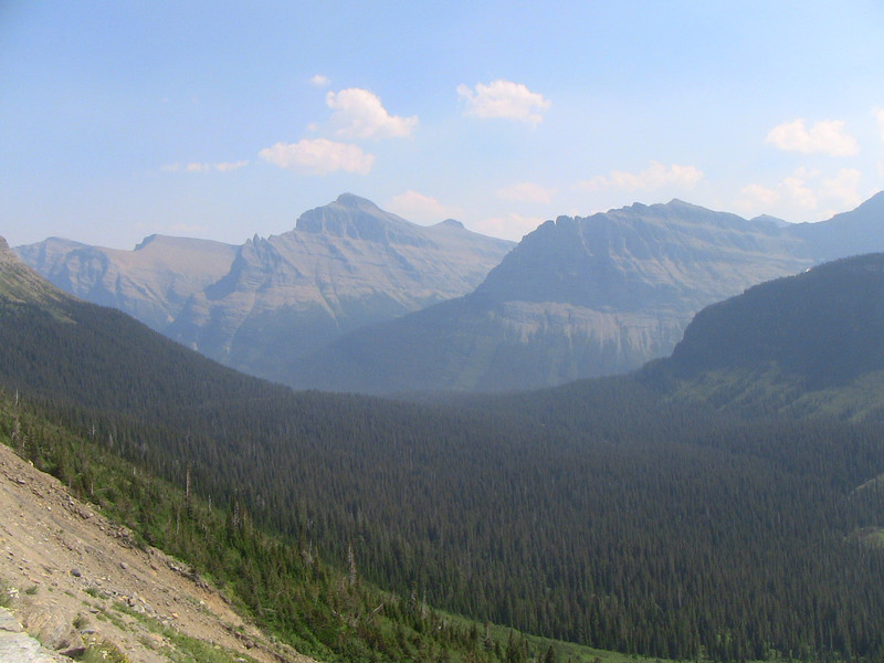 looking East from Going to the Sun Road, Glacier Park