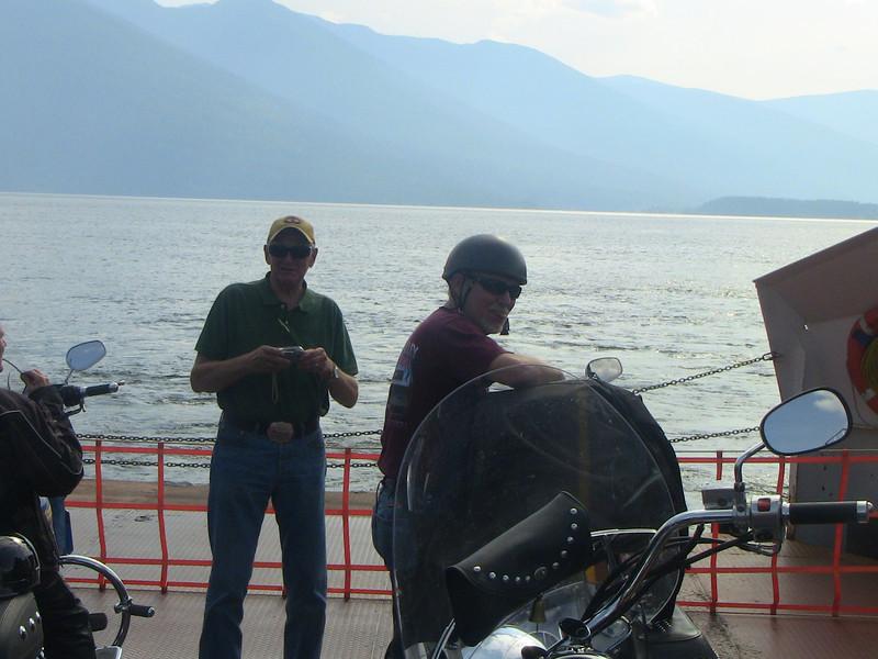 Ferry crossing Kootenay Lake toward Nelson, BC